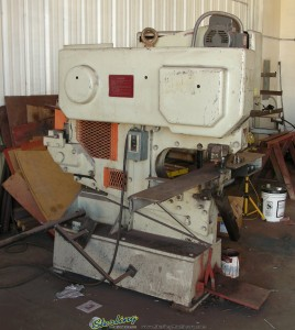 "60 Ton Used Geka Ironwoker, Mdl. CEP-16, 6 Station, Punch 1"" Hole x 7/16"" Plate, Angle Shear, Bar Shear, Plate Shear 10.5"" x 5/8"", Channels #8, Notcher ALL BUILT IN! SINGLE PHASE!!! #A1229"