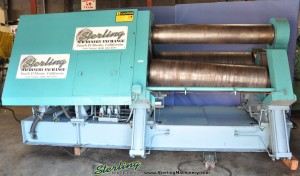 "1 1/4"" x 5' Used Bertsch Hydraulic Double Pinch Plate Bending Roll, Mdl. 125-05, 12"" Top Roll Diamter, 16"" Bottom Roll Diameter, Hydraulic Drop End, Cone Rolling, 3 ROLL DRIVE, DRO, 30 H.P. (1992) #A1241, 12"" Top Roll Diamter, 16"" Bottom Roll Diameter, Hydraulic Drop End, Cone Rolling, 3 ROLL DRIVE, DRO, 30 H.P. (1992) #A1241"