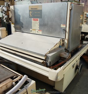 "52"" Used Timesaver Belt Grinder (Wet Type), Mdl. 252 - MW,  Electric Eye Belt Tracking, Air Knife Dryer, Air Disc Brakes, Power Work Height Adjustment, Pneu. Conveyor Belt Tracking  (1997) #A1243"