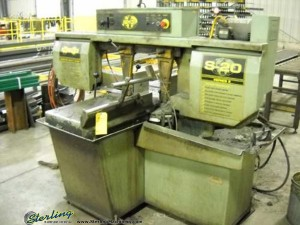 "13"" x 18"" Used Hyd-Mech Horizontal Bandsaw, Mdl. S20 Series 2,  Swivel Mitering Head, Manual Quick Acting Vise, Material Discharge Table, Work Legnth Stop, Coolant System (2000) #A1246"