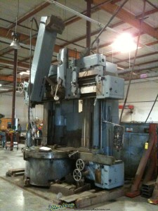 "63"" Used Schiess Vertical Boring Mill, Mdl. KZ - 160, Turret Ram & Side Head, 63"" 4 Jaw Chuck, 75 H.P. #A1260"