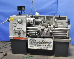 "15"" x 36"" Used Clausing Colchester Engine Lathe, Mdl. 1532, Sony 2 Axis DRO, 3 Jaw Chuck, Steady Rest, 5C Collet Closer #A1264"