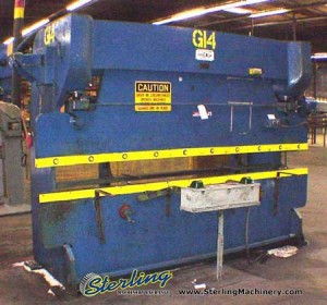 75 Ton x 10' Used Chicago, Mdl. 810C, Air Trip Mechanical Clutch, Front Operated Manual Back Gauge, D.C. Vari-Drive#6979