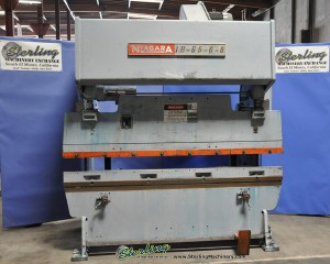 100 Ton x 8' Used Niagara Press Brake, Mdl. IB65-6-8,  Mechanical Clutch, Front Operated Manual Back Gauge, Power Ram Adjustment With Indicators #A1056