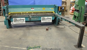 10 Ga. x 10' Used Wysong CNC Power Shear, Mdl. 1010, Wysong PC-100 CNC Back Gauge, Square Arm, Front Supports, Electric Foot Pedal (1988) #A1283