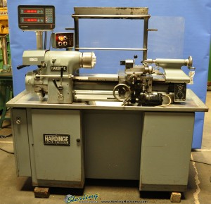 """11"""" x 18"""" Used Hardinge Toolroom Lathe, Mdl. HLVH, Acu-Rite III 2 Axis Digital Readout System, 3 Jaw Chuck, Taper Attachment, 5C Collet Closure, KDK Tool Post Set, Collets #A1289"""