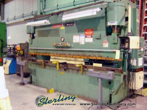 230 Ton x 14' Used Niagara Hydraulic CNC Press Brake, Mdl. HBM-230-12-14, Hurco 2 Axis, Bed & Ram Drilled & Machined For Flanges(1990) #8932