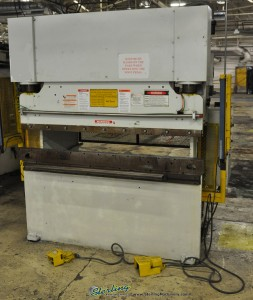 "60 Ton x 6' Used Wysong Hydraulic Press Brake, Mdl. MTH 60 -72, Triad Light Curtains, Auto Lube System, Tonnage Control Valve, 62"" Between Housings (1998) #A1052"