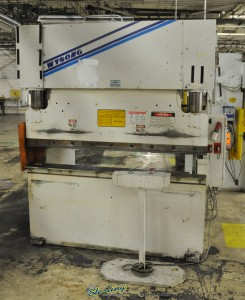 """60 Ton x 6' Used Wysong Hydraulic Press Brake, Mdl. THS60 - 72, High Speed Pump, Remote Dual Palm Control Stand, Tonnage Control Valve, 62"""" Between Housings(1998) #A1053"""
