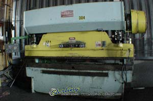 90 Ton x 10' Used Chicago Press Brake, Mdl. 810L, Hurco Autobend 5S Single Axis CNC Back Gauge, 2 Speed Ram#7336