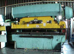 55 Ton x 10' Used Chicago, Mdl. 810-B, Hurco Autobend IV Single Axis CNC Back Gauge, Air Clutch & Brake, 2 Speed Ram#7337