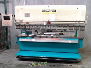 "88 Ton x 8' Used Adira CNC Hydraulic Press Brake, Mdl. QHA-8025, Automec 2000 2 Axis CNC Back Gauge, 81"" Between Housings(1999) #9811"