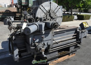 "60"" Used Lodge & Shipley Right Angle T Lathe, Mdl. # 60, 4 Jaw For Face Plate, Hydraulic Tracer, AC Inverter, Digital Control, Tool Post #9986"
