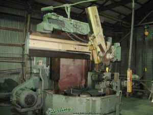 "46"" Used King Vertical Boring Mill, Mdl. #46, 46"" 3 Jaw Chuck, 5 Position Turret, Side Head With Tool Post, Pendant Controls, 50 H.P.#A1323"