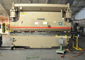 "175 Ton x 14' Used Cincinnati CNC Hydraulic Press Brake, Mdl. 175CB12, Hurco Autobend 7 CNC Back Gauge, Light Curtains, Auto Lube, Remote Dual Palm Control, Barrier Guards, 12' 6"" Between (1988) #2004176"