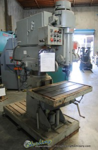 "4' x 12"" Used Johansson Radial Arm Drill Press, Mdl. , Power Elevation#6648"