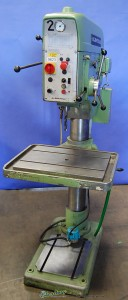 "27"" Used Alzmetall Geared Floor Drill Press, Mdl. AB4SV, Clnt, Pwr. Feed, (1986) #9623"