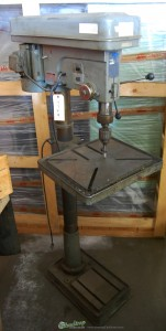 """20"""" Used Rutland Floor Drill Press, Mdl. 2666- 55000, Table Elevating Mechanism, Drill Chuck & Arbor, Single Phase 1 H.P.#9749"""