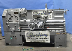 """20"""" x 40"""" Used Victor Engine Lathe, Mdl. 2040, 3 Jaw Chuck, Taper Attachment, Steady Rest, Drill Chuck & Arbor, Coolant System, 10 H.P.#A1342"""