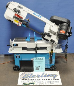 "7"" x 12"" New Acra Horizontal/Vertical Band Saw, Mdl. 712B, Coolant System, Work Length Stop, Casters, Single Phase Motor #A1371"
