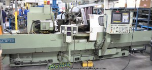 "16"" x 60"" Used Okuma CNC Cylindrical Grinder, Mdl. GP-44N,  Okuma OSP 5000-G CNC Control 3 Axis (C-X-Z) 2 Axis Simultaneous Swing Down Internal Grinding Attachment, Auto Lube System, Coolant (1990) #A1373"