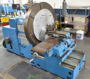 """53"""" Used Lansing Facing T - Lathe, Mdl. TAD - F650,  47"""" Face Plate, 2 Axis Digital Readout System, High/ Low Gear box#A1374"""