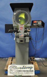 "14"" Used J & L Optical Comparator, Mdl. Basic 14, Quadra Check 3 Digital Calculator & Readout, Surface Illumination, Block Work Holder, 10x Lens #A1383"