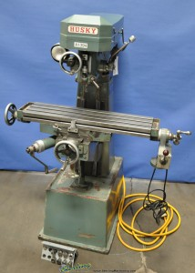 "8"" x 30"" Used Husky Vertical Mill, Mdl. AM-VO-AIS, Servo Table Power Feed #A1394"