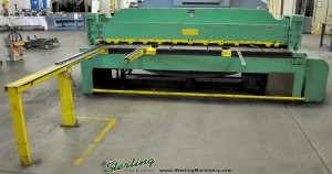 10 Ga. x 10' Used Pexto Power Shear, Mdl. 10 -U-10A, Rear Operated Manual Back Gauge, Front Supports, Square Arm #A1396
