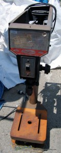 "15"" Used Dayton Bench Drill, Mdl. 3Z325, Drill chuck, Single Phase#9057"