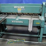 12 Ga. x 4' Used Wysong Power Shear, Mdl. 1252, Rear Operated Manual Back Gauge, Square Arm #9232