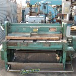 12 Ga. x 4' Used Wysong Power Shear, Mdl. 1252, Rear Operated Manual Back Gauge, Square Arm,  One Shot Lube System, Supports#9451