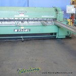 10 Ga. x 10' Used Wysong Power Shear, Mdl. 1010- HD, Siemens PLC Programmable Back Gauge WIth Encoder, Square Arm, Front Supports, Auto Lube #9666