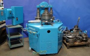"""4.72"""" Used Herkules Power Angle Roll, Mdl. B0232K, Power Top Roll Adjustment,Material Support Rollers, Tooling (1968) #9816"""