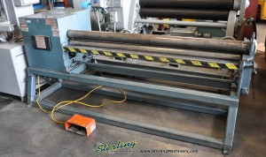 16 Ga. x 6' Used New Dimension Initial Pinch Power Roll, Mdl. MP6059, Manual Drop End, Manual Rear Roll Adjustment, Emergency Cable, ONLY 94 Hours! (1999) #A1010