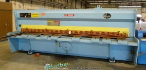 """1/4"""" x 13' Used Atlantic Hydraulic Power Shear, Mdl. HD25-12, Front Operated Power Back Gauge, Power Rake Adjustment, Power Stroke Length Control, Square Arm, Ball Transfer Table #A1408"""