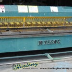 """3/16"""" x 10' Used Wysong Power Shear, Mdl. 7- 120,  Rear Operated Manual Back Gauge, Square Arm#9478"""