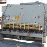 """3/4"""" x 10' Used HTC Hydraulic Power Shear, Mdl. 750- 10 SRHC,Front Operated Power Back Gauge With Indicator, Square Arm (Rebuilt In 1998)#9705"""