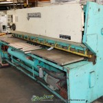 """1/4"""" x 10' Used Promecam Hydraulic Power Shear, Mdl. GH630A, Front Operated Power Back Gauge W/ Indicator, Square Arm, Power Rake and stroke Control, Auto Lube System #A1107"""