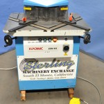 """1/4"""" x 8.6"""" Used Euromac Hydraulic Variable Angle Power Notcher, Mdl. 220-65, Angle Adjustment from 30-140 Degrees,Twin Work Guides, Automatic Blade Gap Adjustment, Electric Foot Pedal, Scrap Chute #A1407"""