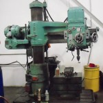 "3' x 11"" Used Carlton Radial Arm Drill, Mdl. 1A, Box Table, Drill Chuck & Arbor #A1413"