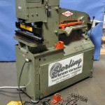 """35 Ton Used Metal Muncher II Hydraulic Ironworker, Mdl. MM35, 24"""" Brake Attachment W/ 4 Way Bottom Die, Punches & Dies, Electric Foot Pedal #A1430"""