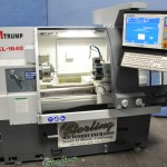 "16"" x 38"" Used ATrump CNC Flat Bed Lathe, Mdl. KL-1640, Centroid T400 S CNC Control, 6 Station Indexing Turret, 3 Jaw, Manual Tailstock, Color Monitor (2006) #A1447"