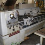 """17"""" x 80"""" Used Clausing Colchester Engine Lathe, Mdl. 1755, 4 Jaw Chuck, Lever 5C Collet Closer #A1473"""
