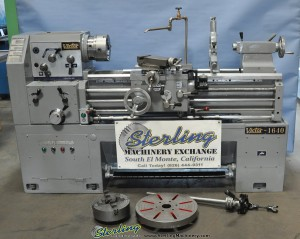 "16""/24"" x 40"" Used Victor Engine Lathe, Mdl. 1640G, 3 & 4 Jaw Chuck, 5C Collet Closer, Steady Rest, Face Plate, Inch/Metric Threading #A1478"