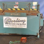 14 Ga. x 4' Used Wysong Hydraulic Power Shear, Mdl. HY1-1452, Rear Operated Manual Back Gauge, Front Supports #A1486