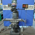 "9"" x 42"" Used Enco Vertical Mill, Mdl. Series 1, Analiam 2 Axis Digital Readout System, One Shot Lube System #A1536"
