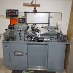 "11"" x 18"" Used Hardinge Tool Room Lathe, Mdl. HLVH-EM, Inch/Metric Threading, Acurite 2 Axis Digital Readout, 6 Jaw Buck Chuck, Aloris Tool Post, Drill Chuck, Collets, 5C Collet Closer (1991) #A1584"