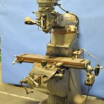"9"" x 42"" Used Bridgeport Vertical Mill, Mdl. BRJ-42, X-Y Axis Trav-A-Dials, Servo Table Power Feed #A1644"