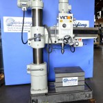 3''x 8'' Used Victor Radial Arm Drill, Mdl. 837,  Box Table, Power Elevation, Drill Chuck, Coolant System, 2  H.P. #A1650